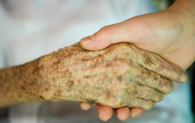 关心年长的人 库存图片