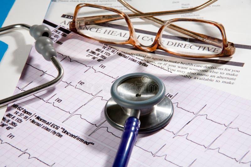 关心指示性健康患者 库存图片