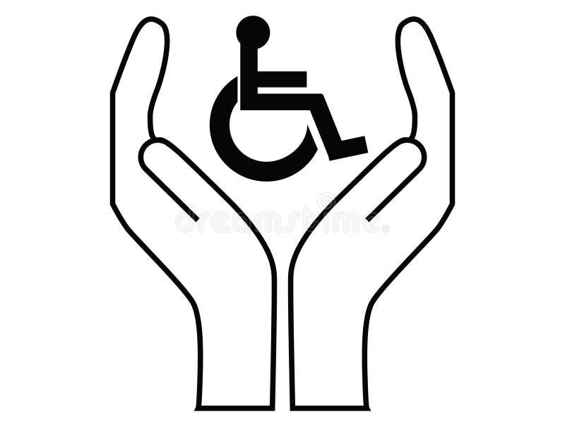 关心残疾人 库存例证