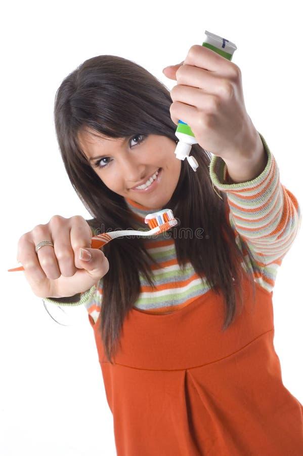 关心牙 免版税库存图片