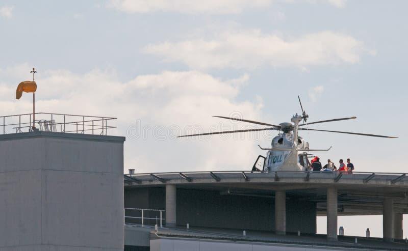 关心飞行到戈斯福德医院 库存图片