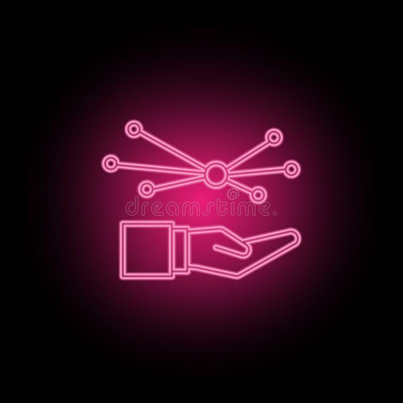 关心,连接,网络霓虹象可以用于说明关于SEO优化,数据逻辑分析方法,网站performace的题目- 库存例证