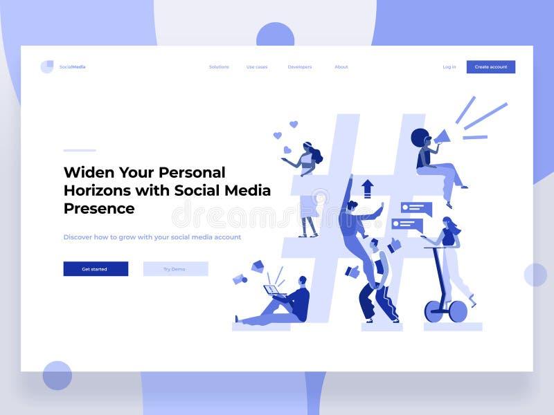 关系、网上约会和网络概念-分享信息的人们通过社会媒介平台和 库存例证