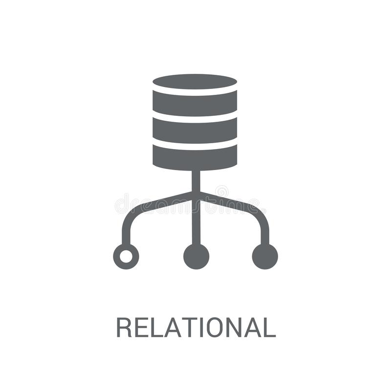 关系数据库管理系统象  皇族释放例证