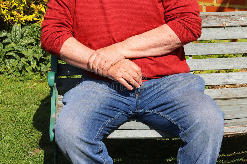 关节炎,痛苦的腕子 反复张力 免版税库存图片