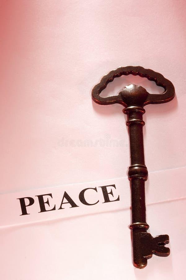 关键和平 免版税库存图片