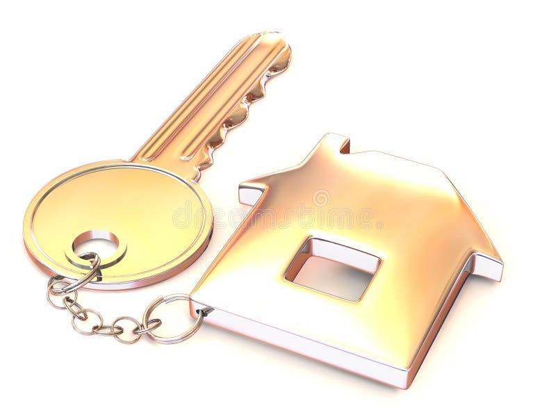 关键小装饰品 库存例证