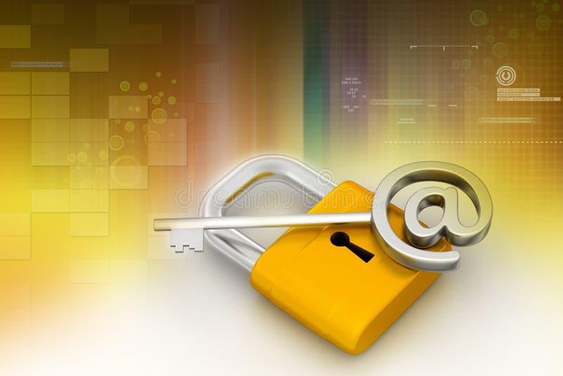 关键挂锁 库存例证