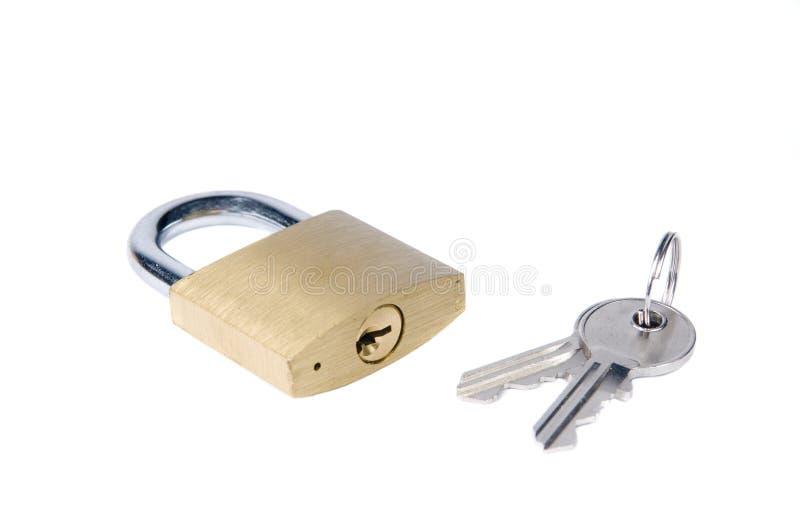关键挂锁 库存图片