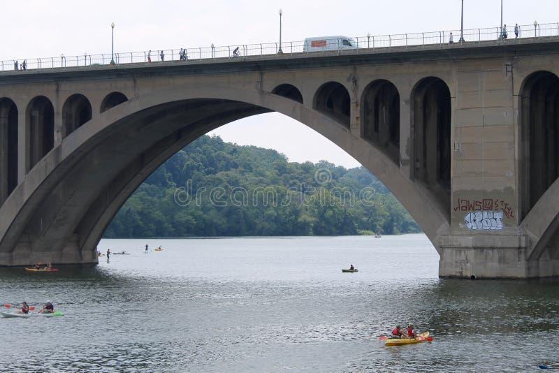 关键桥梁,华盛顿特区, 库存照片