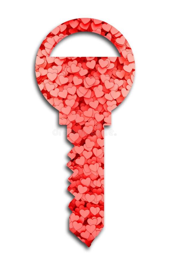 关键积土心脏标志 向量例证