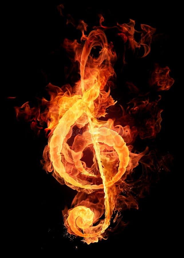 关键符号小提琴 皇族释放例证