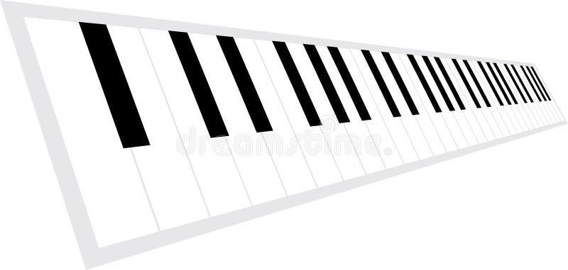 关键董事会透视图钢琴 皇族释放例证