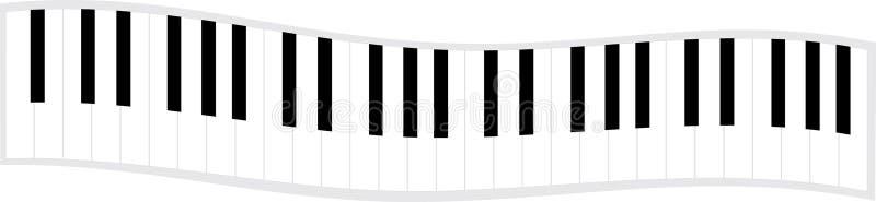 关键董事会钢琴通知 库存例证