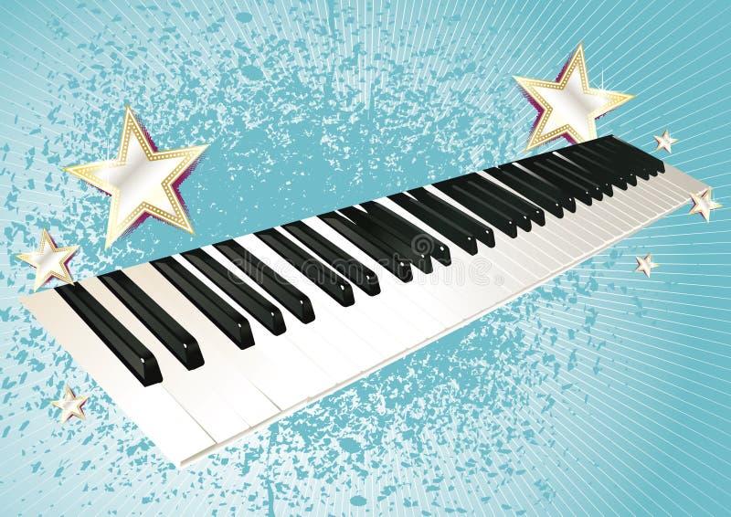 关键董事会钢琴 向量例证