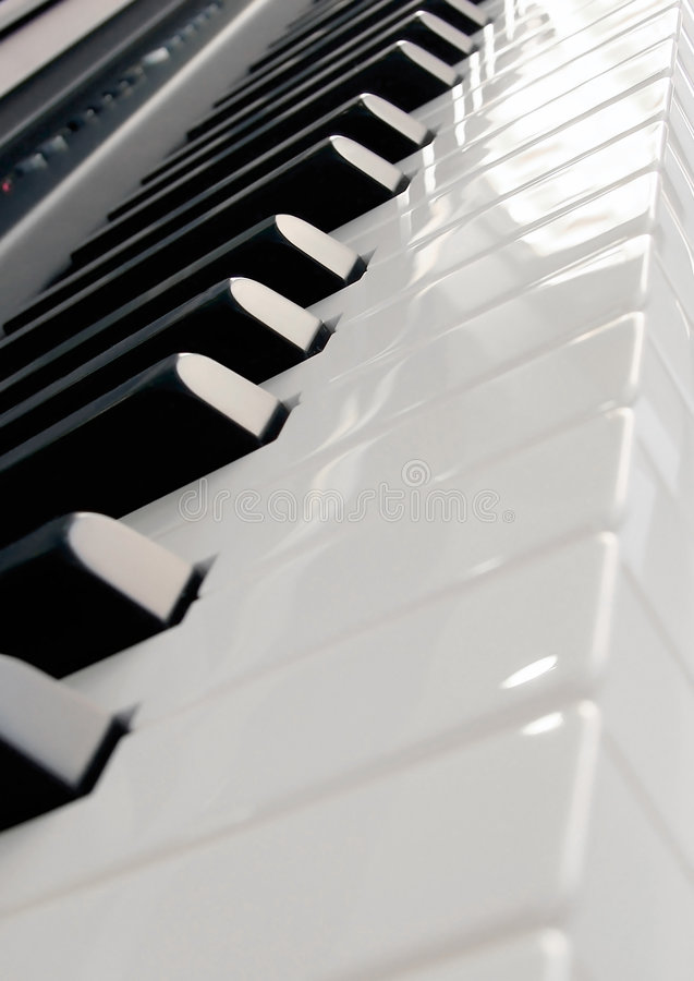 关键董事会钢琴 免版税库存照片