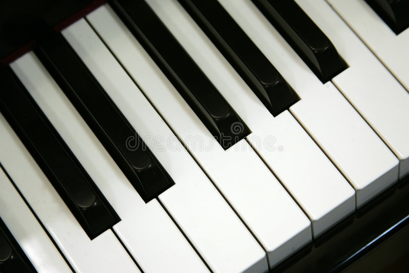 关键董事会钢琴 免版税图库摄影
