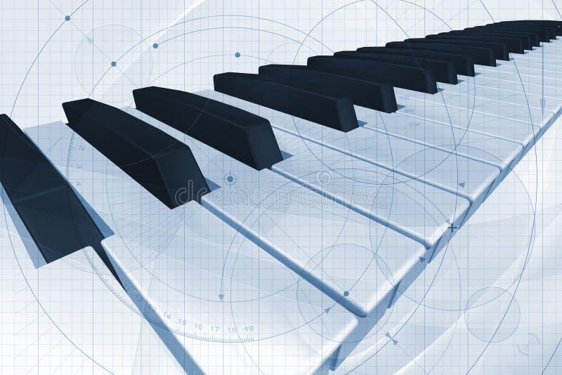关键董事会钢琴 库存例证