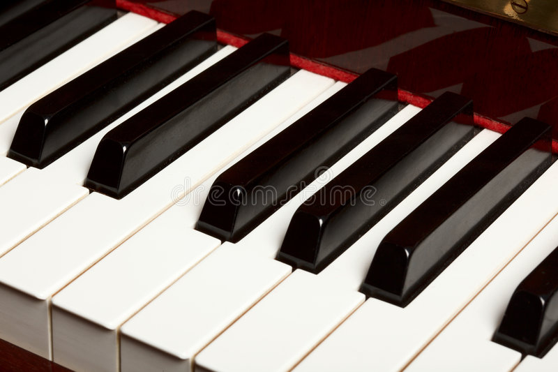 关键董事会钢琴 库存图片