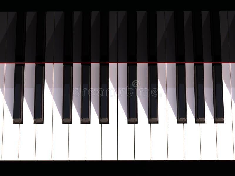 关键董事会钢琴 皇族释放例证