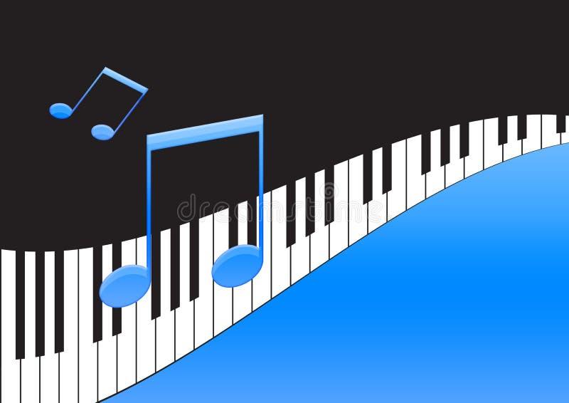 关键董事会音乐注意钢琴 向量例证