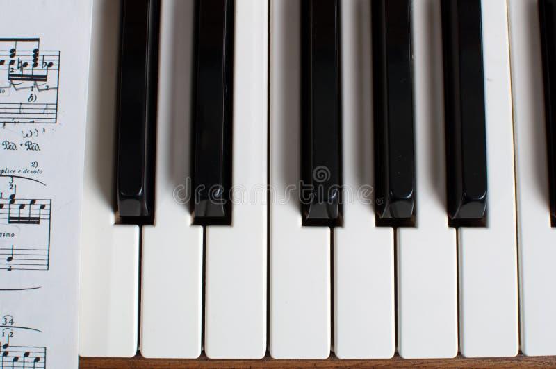 关键董事会音乐钢琴页 免版税库存图片