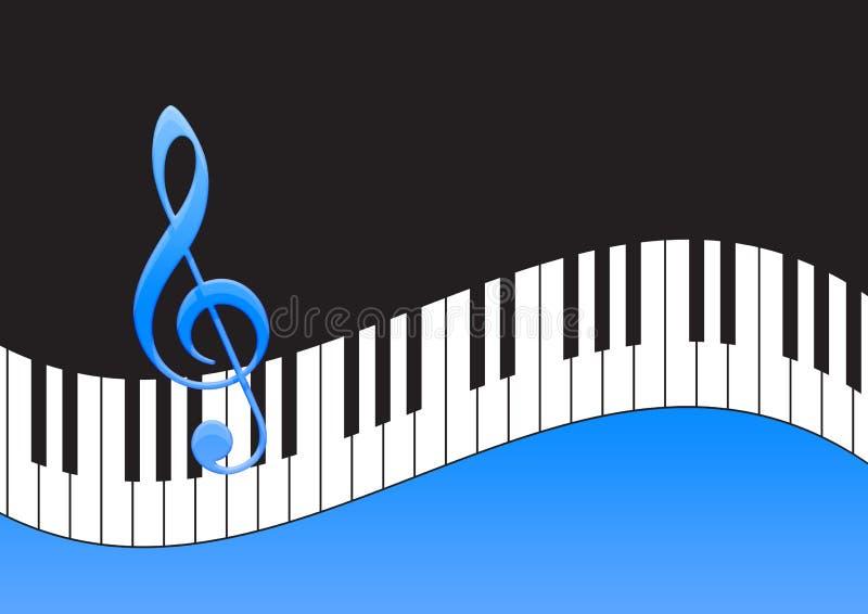 关键董事会音乐附注钢琴 向量例证