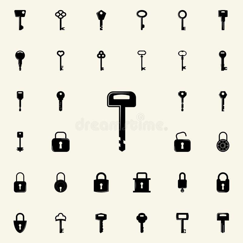 关键象 锁和钥匙象全集网和机动性的 库存例证