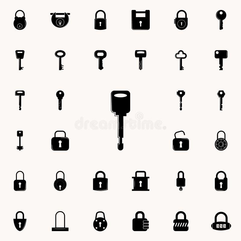 关键象 锁和钥匙象全集网和机动性的 向量例证