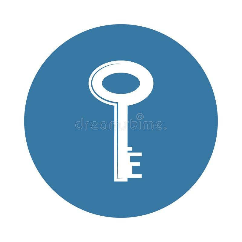 关键象 锁和钥匙象的元素流动概念和网apps的 徽章样式钥匙象可以为网和流动apps使用 库存例证