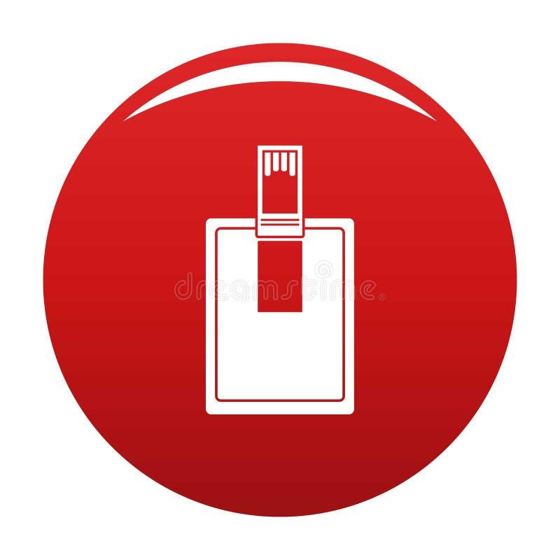 关键连接器象传染媒介红色 向量例证