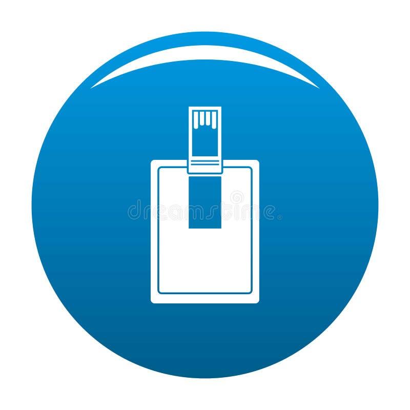 关键连接器象蓝色 库存例证