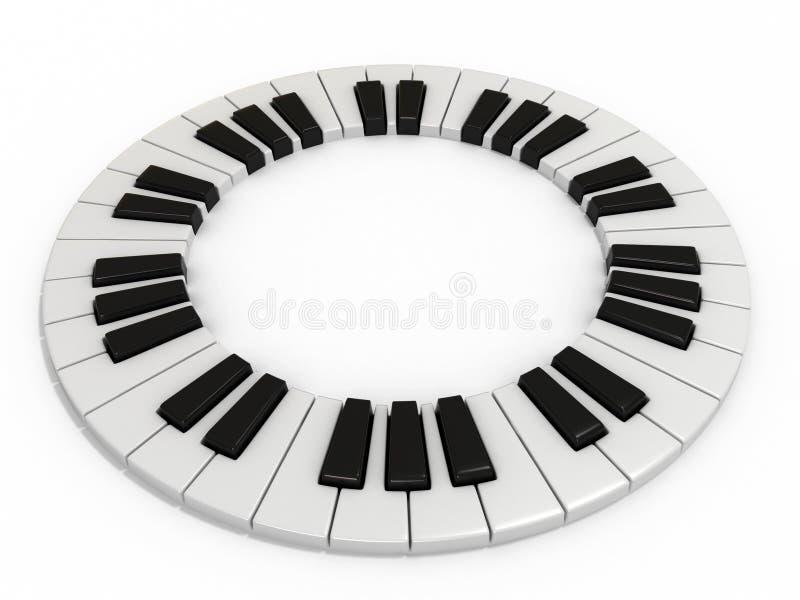 关键钢琴 库存例证