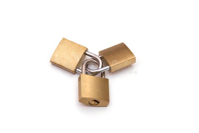 关键锁定缠结了 免版税库存照片