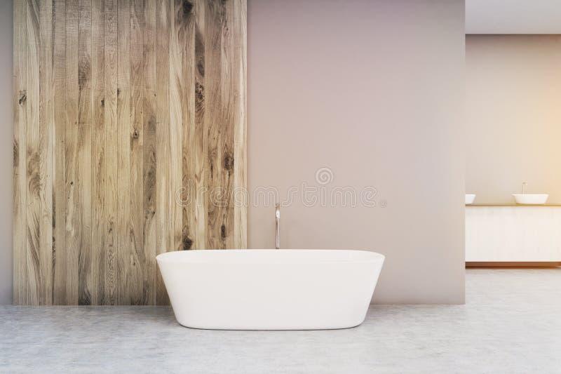关闭一个白色浴缸,定调子 库存例证