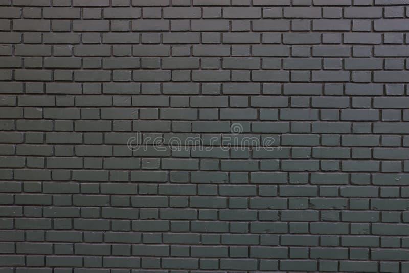 关闭一个黑砖墙 免版税库存图片