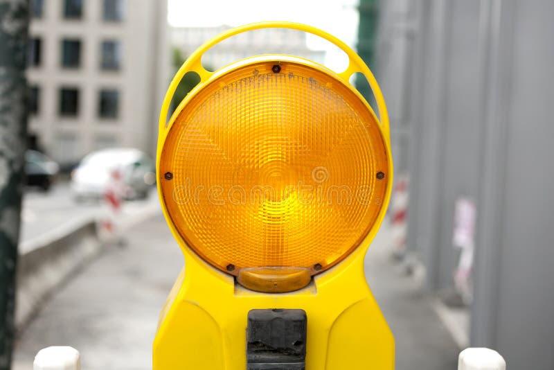 关闭一台黄色反射器 库存图片