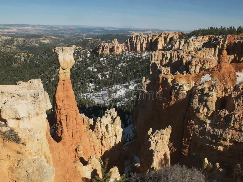 关闭不祥之物在bryce峡谷国立公园在犹他 免版税库存图片