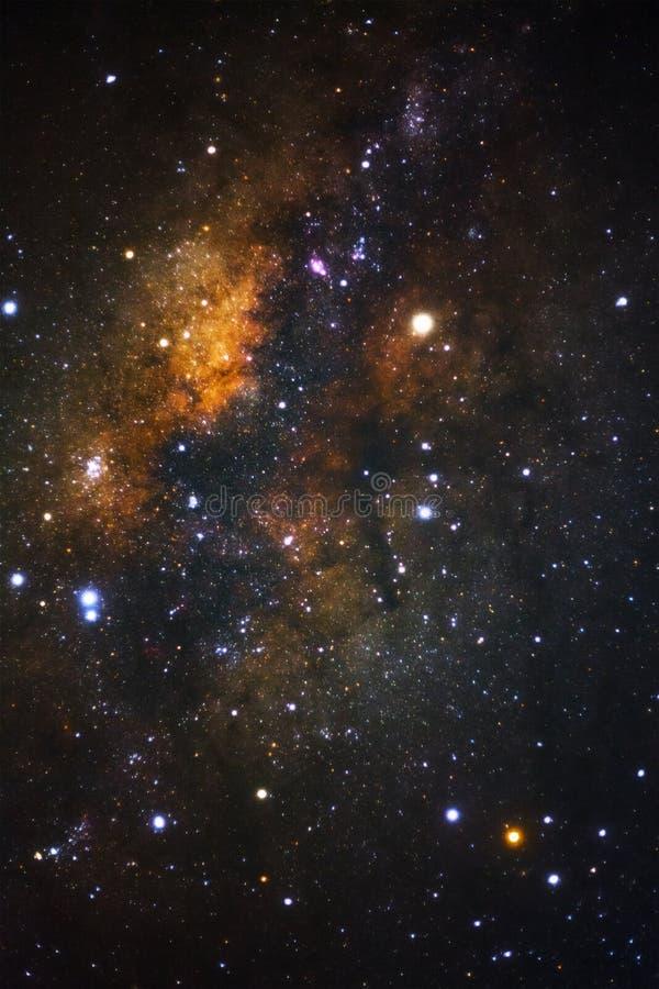关闭与星和空间尘土的银河星系在联合国 库存图片
