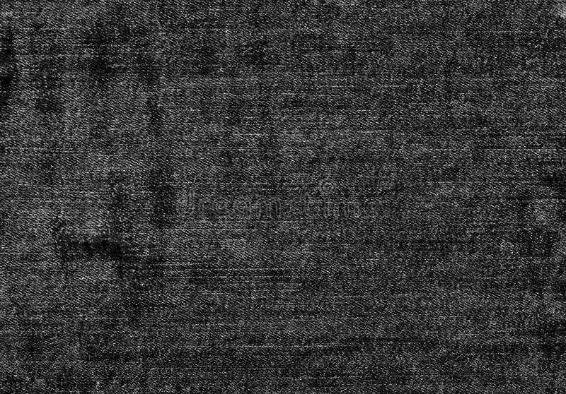 关闭与空的拷贝空间的黑白牛仔布纹理 免版税库存图片