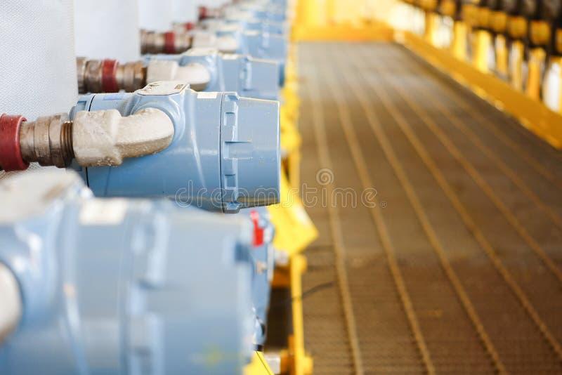 关闭与选择聚焦压力传送器和压力 图库摄影