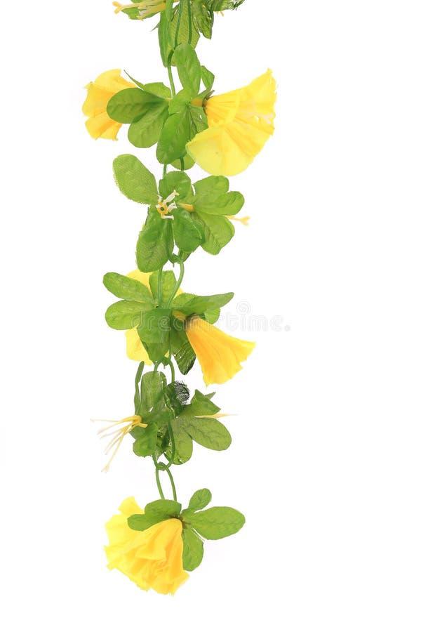 关闭人为黄色花。 免版税库存图片