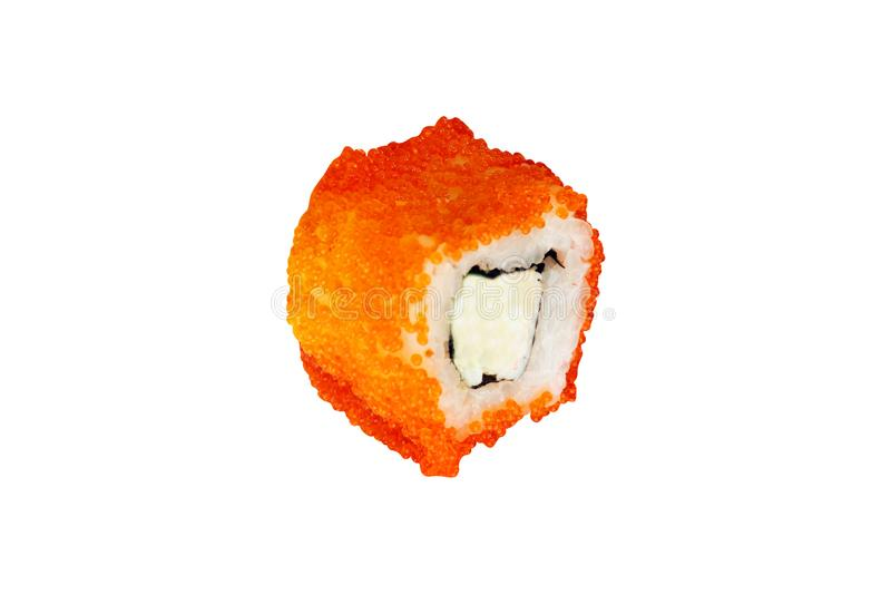 关闭传统新日本寿司卷射击  免版税库存图片