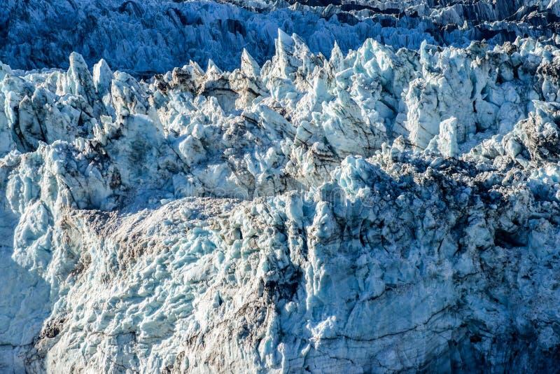 关闭冰川的岩石面孔细节在阿拉斯加 免版税图库摄影