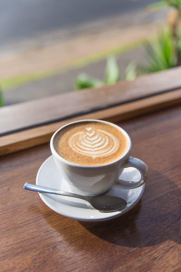 关闭咖啡茶杯 图库摄影