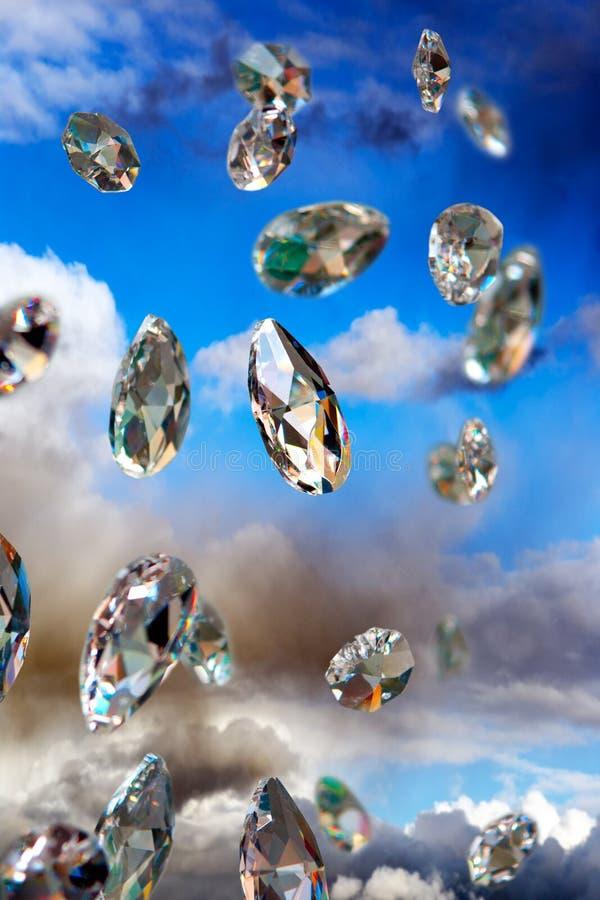 闪耀的金刚石 库存图片