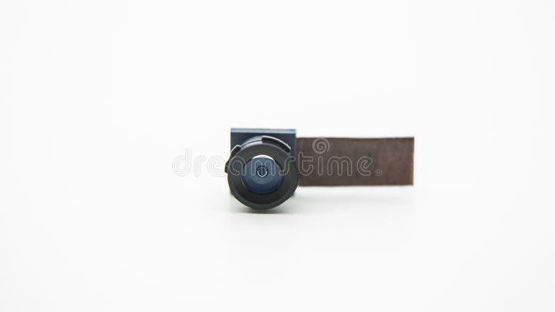 关闭在手机的一个照相机模块 智能手机透镜特写镜头  免版税库存照片