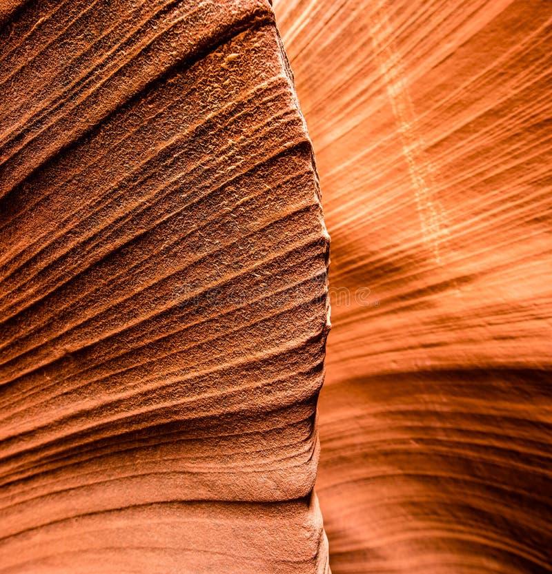关闭在槽孔峡谷的砂岩形成 库存图片