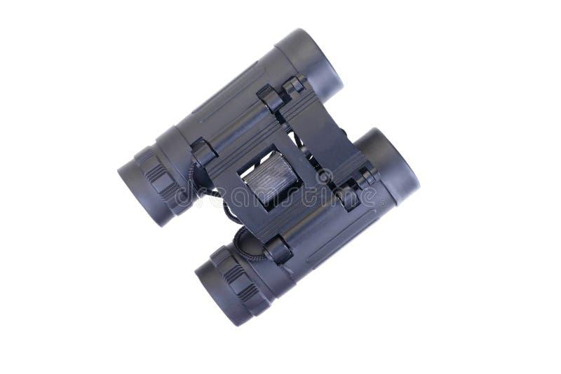 关闭在白色隔绝一台小双筒望远镜 图库摄影