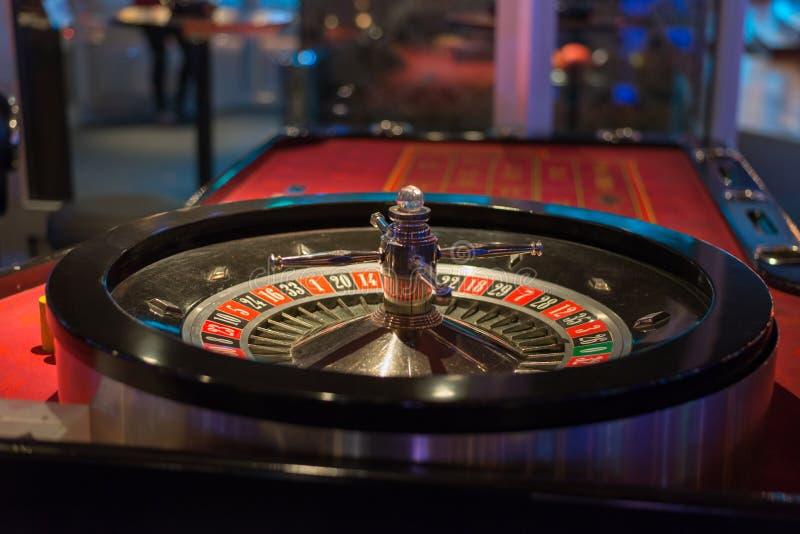 关闭在轮盘赌桌上 库存图片